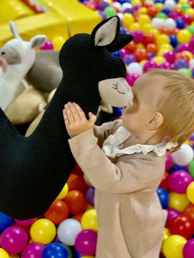Handmade 50cm tall soft toy-pillow Alpaca