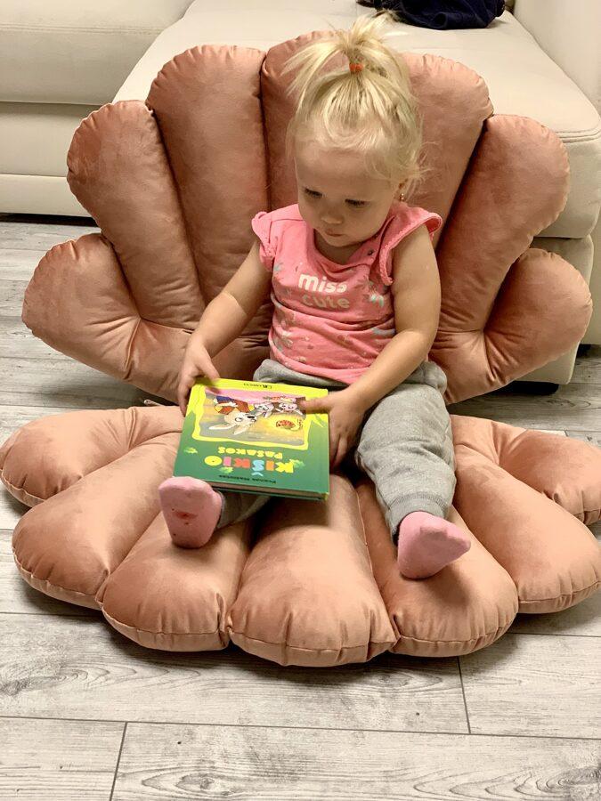 """Sėdinukas """"Kriauklės"""" iš 2 pagalvių"""